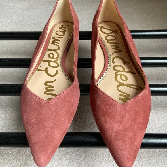 SAM EDELMAN Women Suede Pointy Toe Shoes NEW NWOB